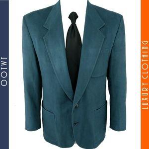 CHAMISTIE 41R Micro Suede Teal Blue Soft Blazer